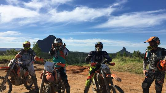 Glass House Mountains Guided Trail Bike Tour - Full Day