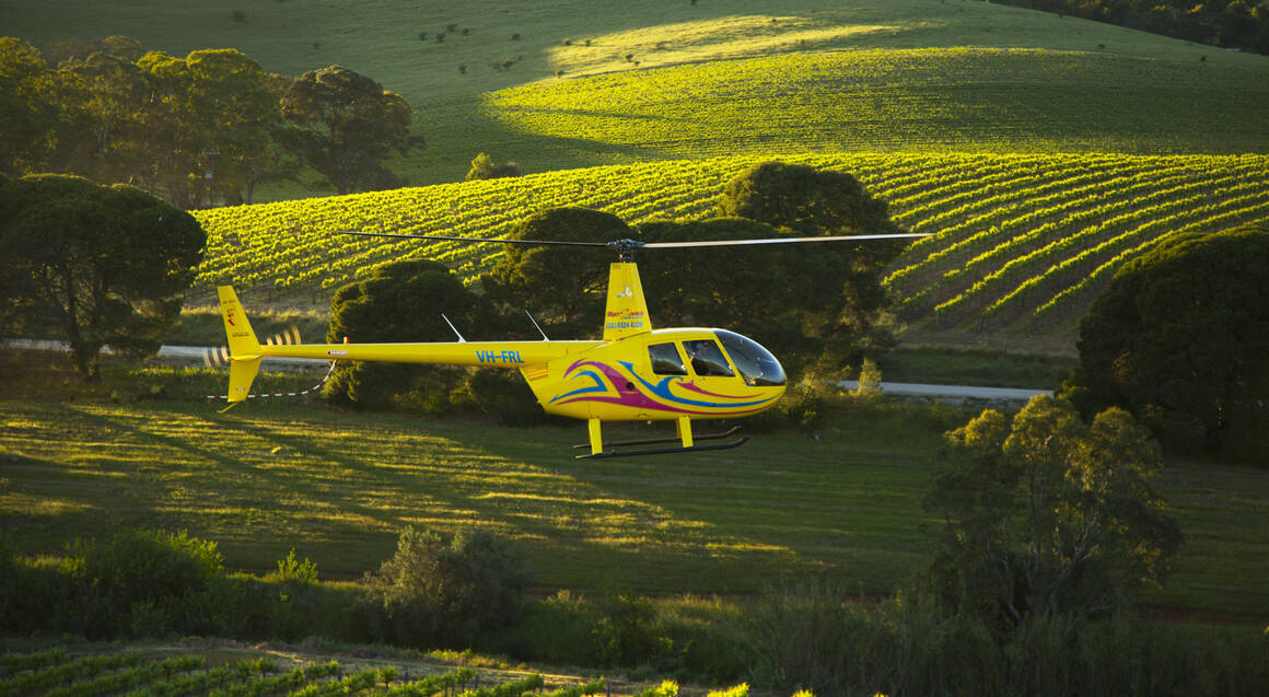 Private Helicopter Flight with 2 Course Lunch and Tasting