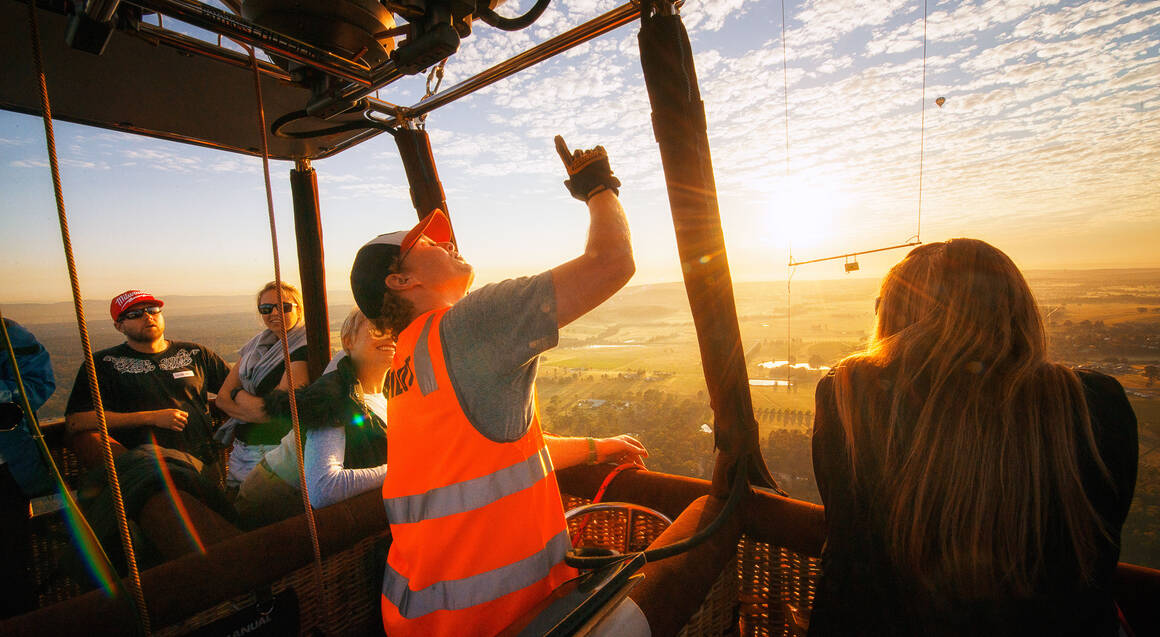 Hot Air Ballooning Over The Hunter Valley - For 2