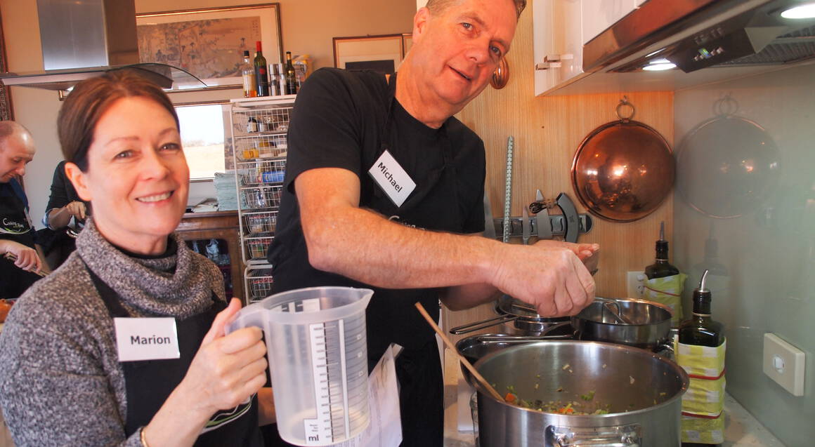 Stocks, Sauces and Soups Cooking Class with Wine
