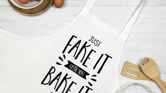 "Personalised ""Fake It Until You Bake It"" Apron"