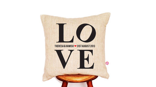 Personalised L.O.V.E. Cushion Cover