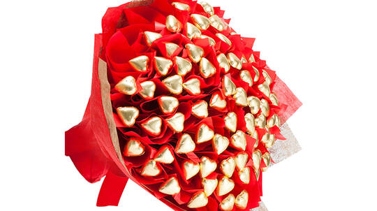 Sixty Hearts Chocolate Bouquet
