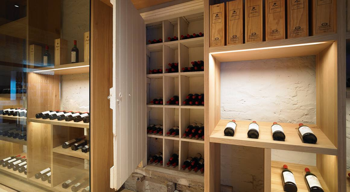 cellar door with wine at penfolds magill estate