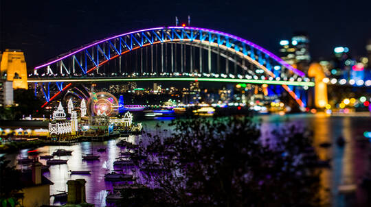 Vivid Sydney Catamaran Cruise with Canapes and Drink