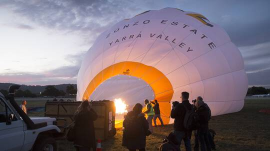 Hot Air Ballooning Over The Yarra Valley - Adult