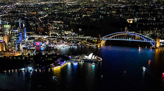 Vivid Sydney Helicopter Night Flight - 25 Minutes