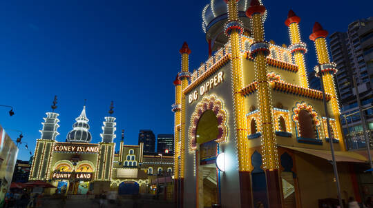 Luna Park Rides Pass during Vivid Sydney- Weekend- 106-129cm