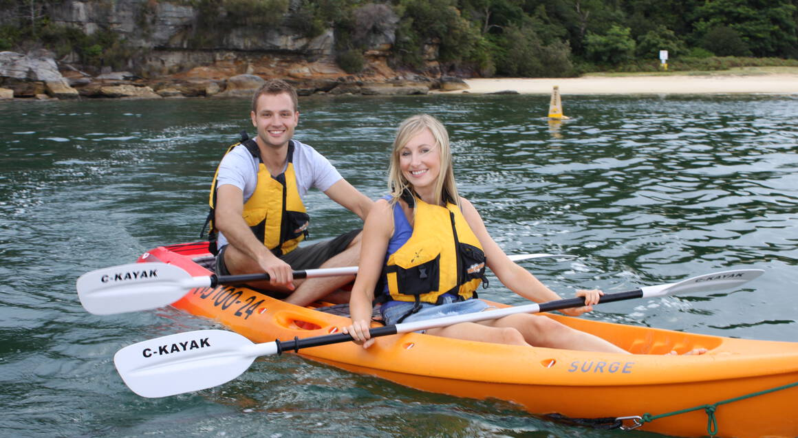 Double Kayak Hire in Manly - 4 Hours - For 2