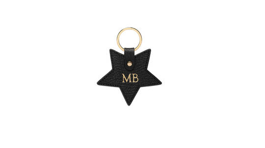 Mon Purse Monogrammed Grainy Leather Keyring