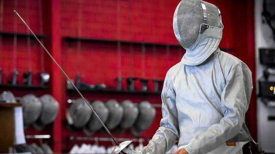 Sabre Fencing Class With All Equipment