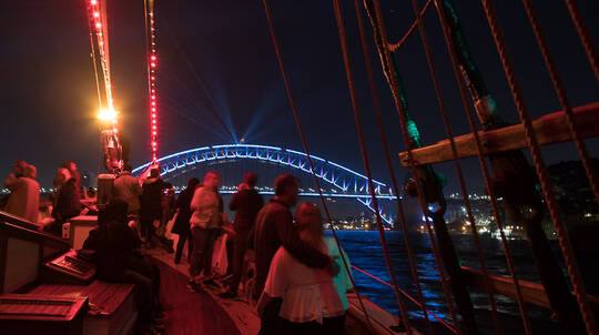 Vivid Sydney Tall Ship Dinner Cruise with Drinks - Weekend