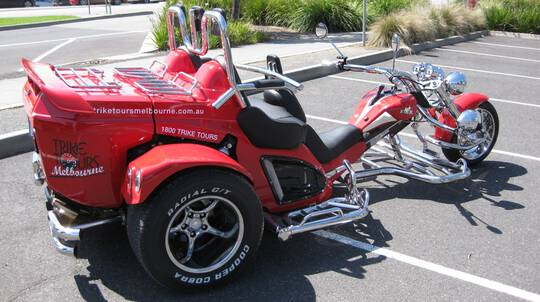 Melbourne Private Trike Hire with Driver - 1 Hour - For 2