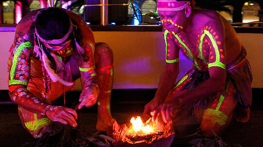 Vivid Sydney Harbour Cruise with Aboriginal Performance