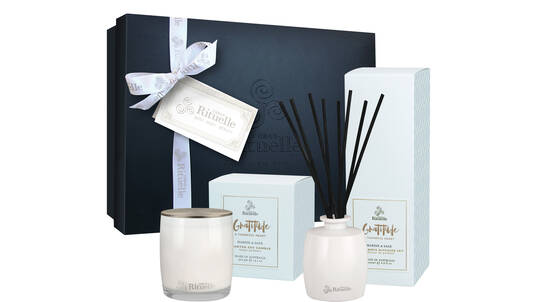 Candle and Diffuser Gift Set - Marine and Sage