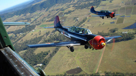 Aerobatic Warbird Formation and Dogfighting Flight - For 2