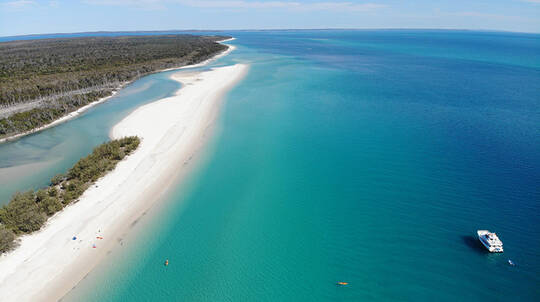 Fraser Island Cruise with BBQ Lunch and Water Sports