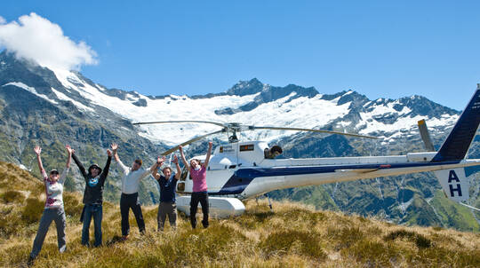 Scenic Helicopter Flight and Guided Alpine Trek