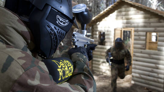 Full Day Paintball Experience with 500 Paintballs