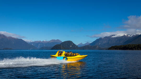 Beach To Bay Jet Boating Across Lake Te Anau