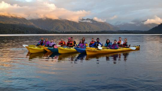 Guided Sunset Kayak Tour of Lake Mapourika with Photo