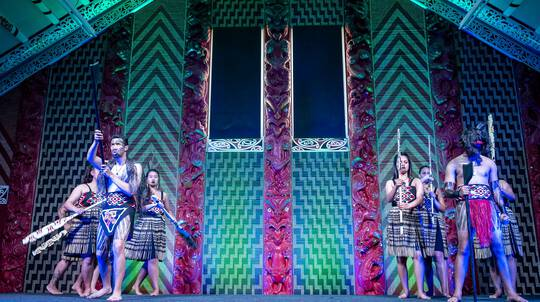 Nga Hau e Wha Marae Tour with Performance and Kaimoana