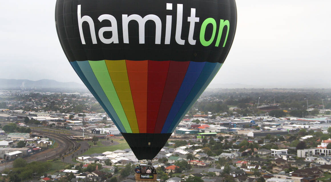 Hot Air Ballooning Over Waikato with Sparkling