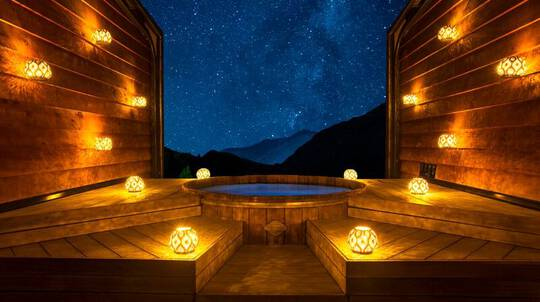 Evening Hot Pools Private Bathe with Indulgence Pack - For 2