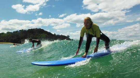 Learn To Surf Day Tripper on the Tutukaka Coast