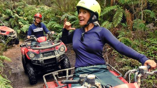 Quad Biking on the Enchanted Rainforest Track - 1 Hour