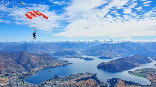 Tandem Skydive over Wanaka - 15,000ft