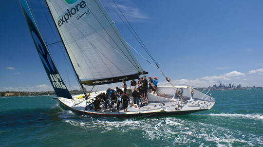 Sailing America's Cup Racing on Auckland Harbour - 3 Hours